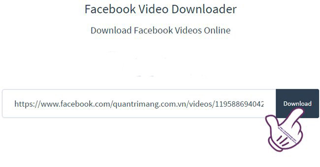 huong dan download video facebook nhanh