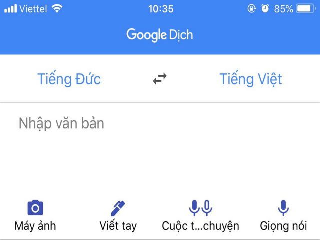google translate la ung dung dich thua duoc su dung nhieu nhat hien nay